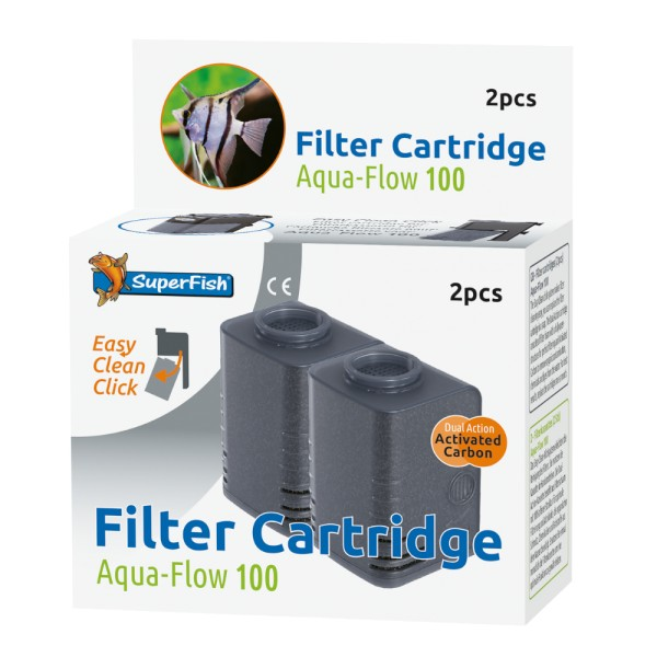 SuperFish Aqua-Flow 100 Easy Click Kasette 2 Stk.