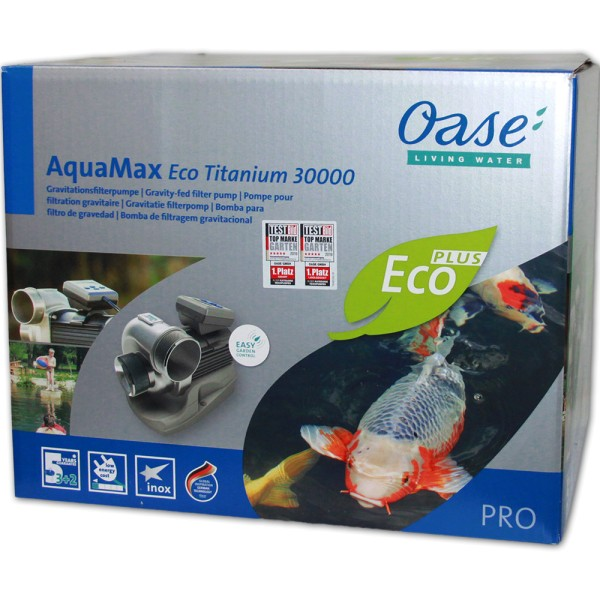 OASE AquaMax Eco Titanium 30000 Teichpumpe - 4010052470283 | © by teichfreund24.de