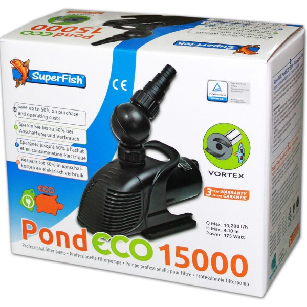 SUPERFISH Pond ECO 15000 Teichpumpe - 8715897043031 | © by teichfreund24.de