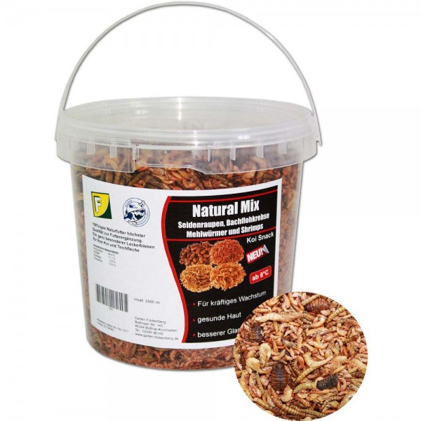 Teichoutlet® Natural Mix Koi Snack 2500ml | © by teichfreund24.de