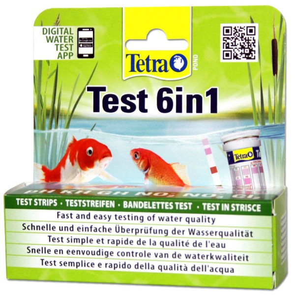 Tetra Pond Test 6 in 1 Wasserteststreifen - 4004218192713 | © by teichfreund24.de