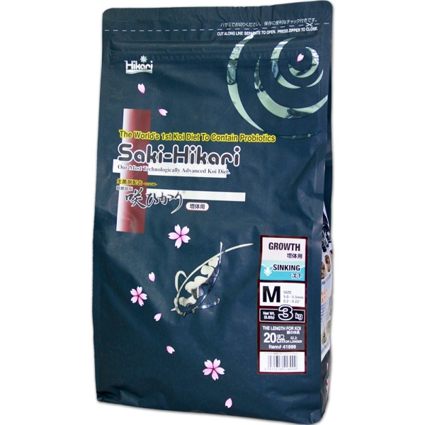 HIKARI Saki-Hikari Growth M Wachstumsfutter sinkend Ø 5mm 3kg - 4971618418999 | © by teichfreund24.de