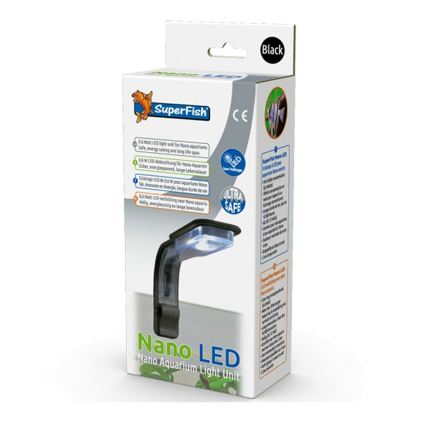 SuperFish Nano LED schwarz Aquarium-Beleuchtung - 8715897276538 | by teichfreund24.de