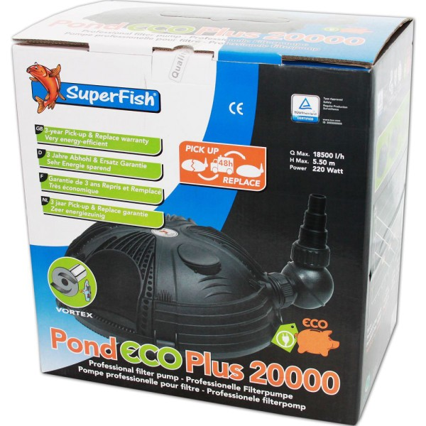 SUPERFISH Pond ECO Plus 20000 Teichpumpe - 8715897043048 | © by teichfreund24.de