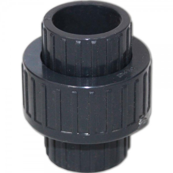 PVC 3/3 Kupplung mit O-Ring Ø 20mm ohne Gewinde | © by teichfreund24.de