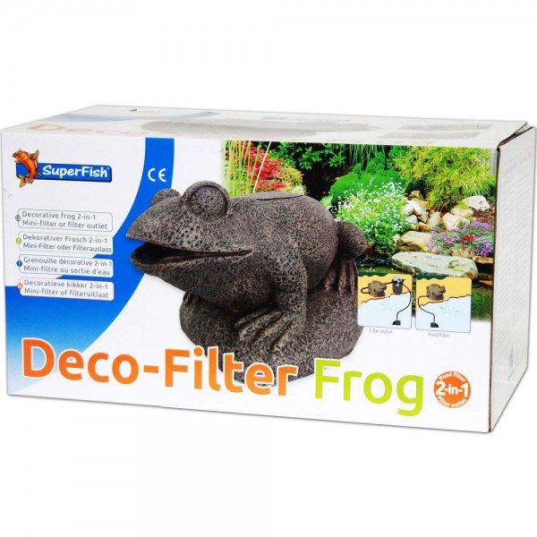 Superfish Frosch 2in1 Deco-Filter - 8715897273186 | © by teichfreund24.de