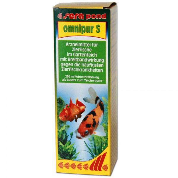 Sera Pond Omnipur S Fischmedizin 250ml - 4001942075527   © by teichfreund24.de