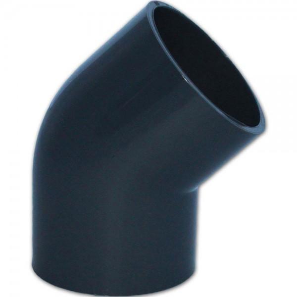 PVC 45° Winkel Ø 63mm - 8717605080086 | © by teichfreund24.de