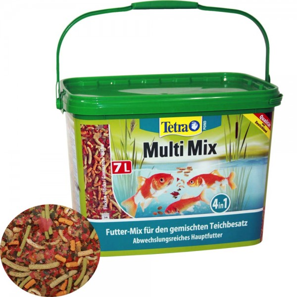 Tetra Pond Multi Mix Fischfutter 7L - 4004218277281 | © by teichfreund24.de