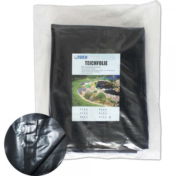 Teichoutlet® PVC-Teichfolie 0,5mm 6x6m | © by teichfreund24.de