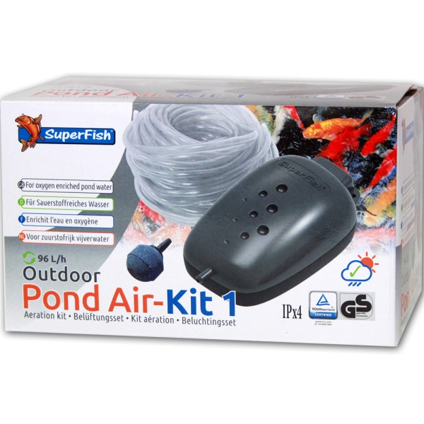 SUPERFISH Pond Air-Kit 1 Teichbelüfter - 8715897033476 | © by teichfreund24.de