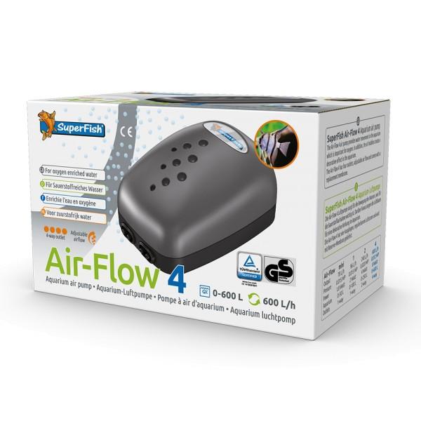 SuperFish Air-Flow 4 Aquarien-Luftpumpe - 8715897005305 | by teichfreund24.de