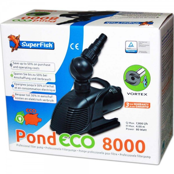 Superfish Pond ECO 8000 Teichpumpe - 8715897043017 | © by teichfreund24.de