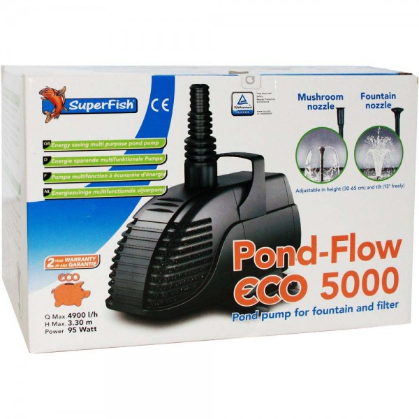 SUPERFISH Pond Flow ECO 5000 Teichpumpe - 8715897244551 | © by teichfreund24.de
