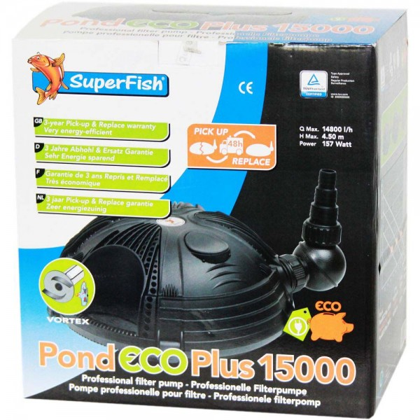Superfish Pond ECO Plus 15000 Teichpumpe - 8715897044076 | © by teichfreund24.de