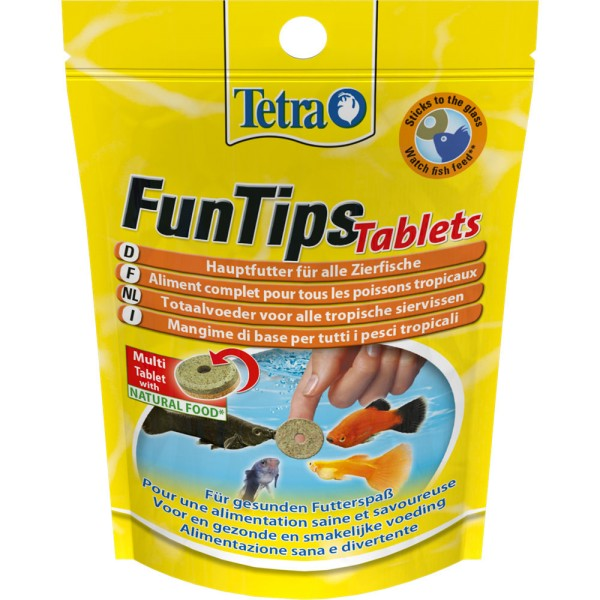 TETRA FunTips Tablets 165 Tabl. Zierfischfutter - 4004218761568 | © by teichfreund24.de