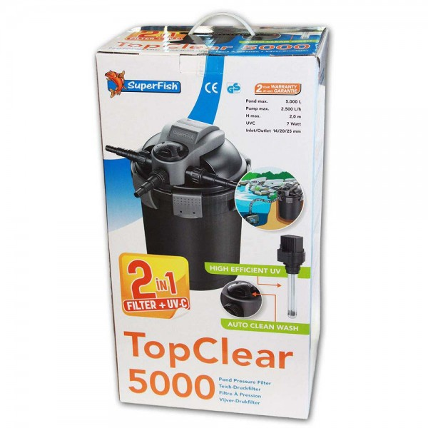 Superfish TopClear 5000 Teichfilter + UVC - 8715897195334 | © by teichfreund24.de