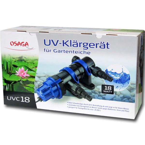 Osaga UV-Klärgerät UVC 18 Modell 2019 - 4250247608996 | © by teichfreund24.de