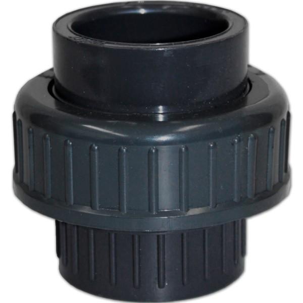 PVC 3/3 Kupplung mit O-Ring Ø 32mm ohne Gewinde - aa253 | © by teichfreund24.de