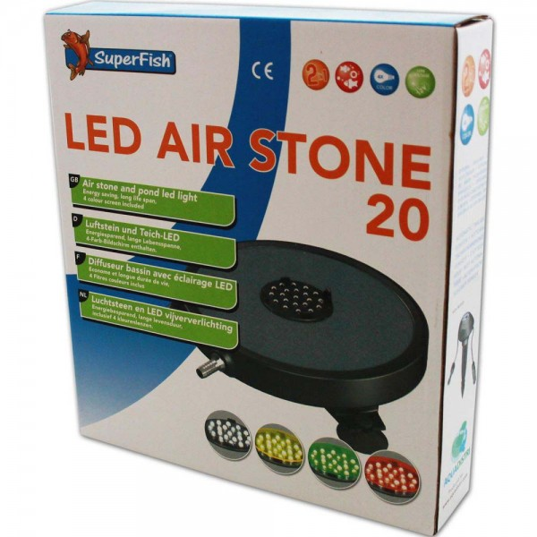 Superfish LED-Air Stone Luftausströmer Ø 20cm - 8715897226588 | © by teichfreund24.de