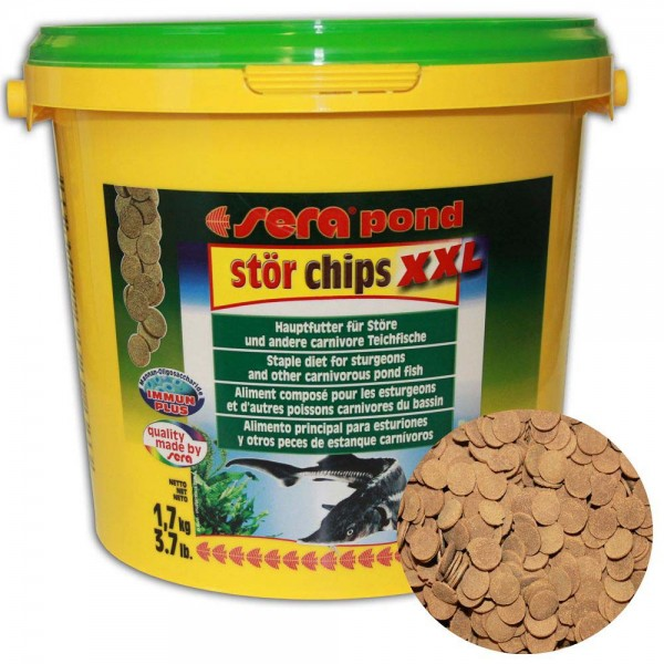 Sera Pond Stör Chips XXL Störfutter 1,7kg - 4001942071536 | © by teichfreund24.de
