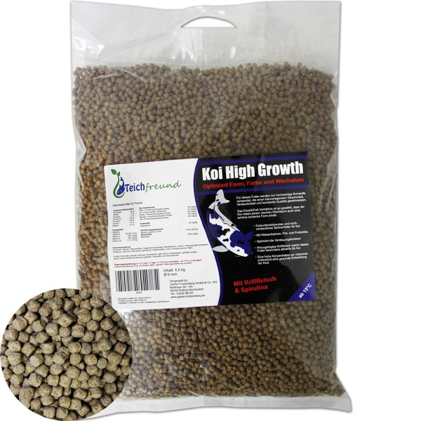 TEICHFREUND® Koi High Growth Koifutter 4,5kg Ø 6mm | © by teichfreund24.de