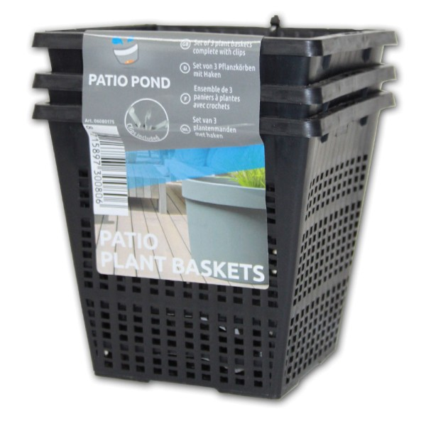 SUPERFISH Patio Plant Baskets 3x Pflanzkorb für Patio Pond - 8715897300806 | © by teichfreund24.de