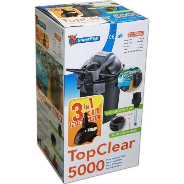 SUPERFISH TopClear 5000 3in1 KIT Teichfilterset - 8715897204012 | © by teichfreund24.de