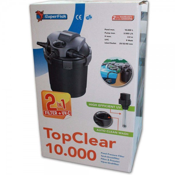 Superfish TopClear 10000 Teichfilter + UVC - 8715897195341 | © by teichfreund24.de